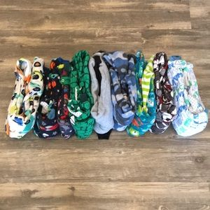 Children's place lot of 9 footed jammies size 3t